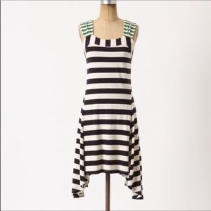 Anthropologie HWR Monogram split striped dress